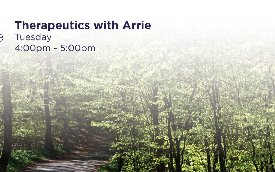 NEW CLASS! Therapeutics with Arrie